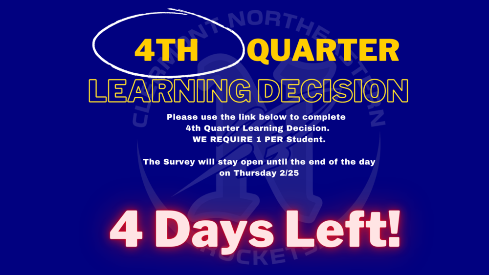 4 Days Left To Complete Learning Decision