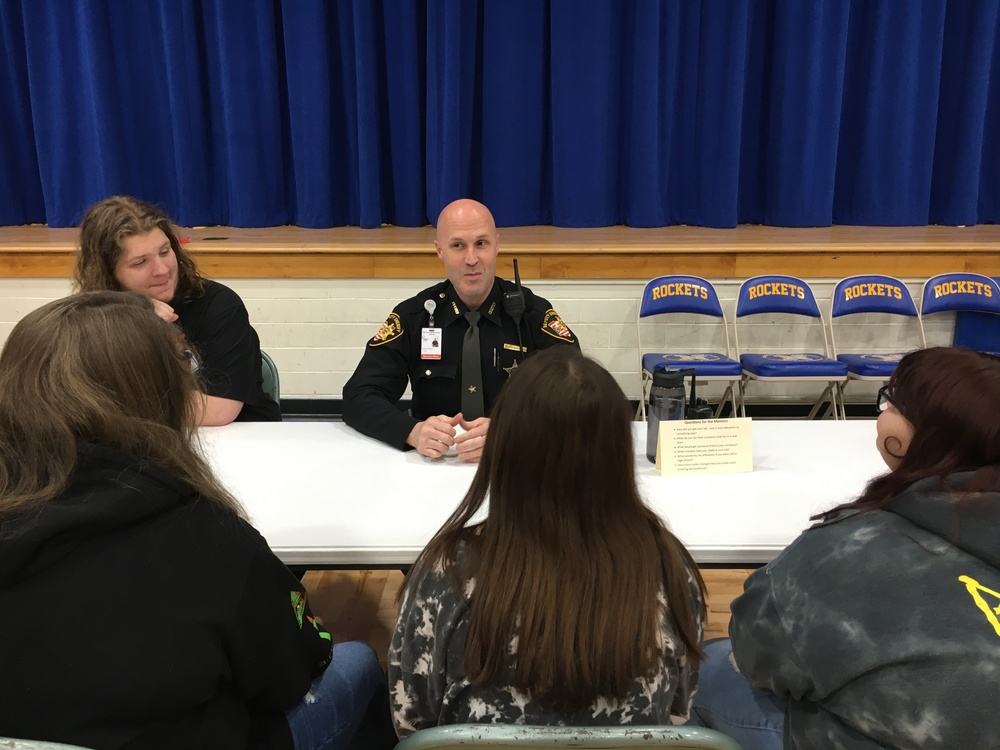 ​CNE sophomores hear a quick word from Chamber mentors​​