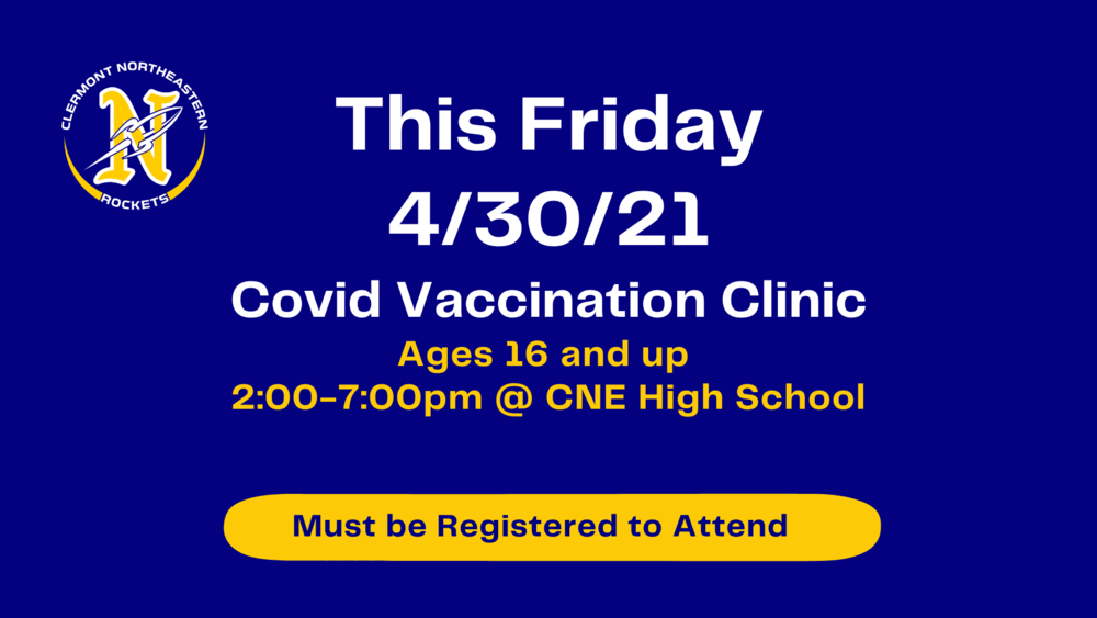 Covid Vaccination Clinic This Friday Signup Now!