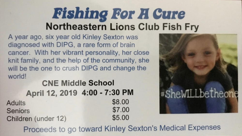Fish Fry to benefit Kinley Sexton