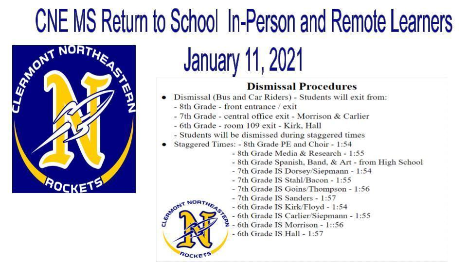 CNE MS Dismissal Procedures  01/11/21
