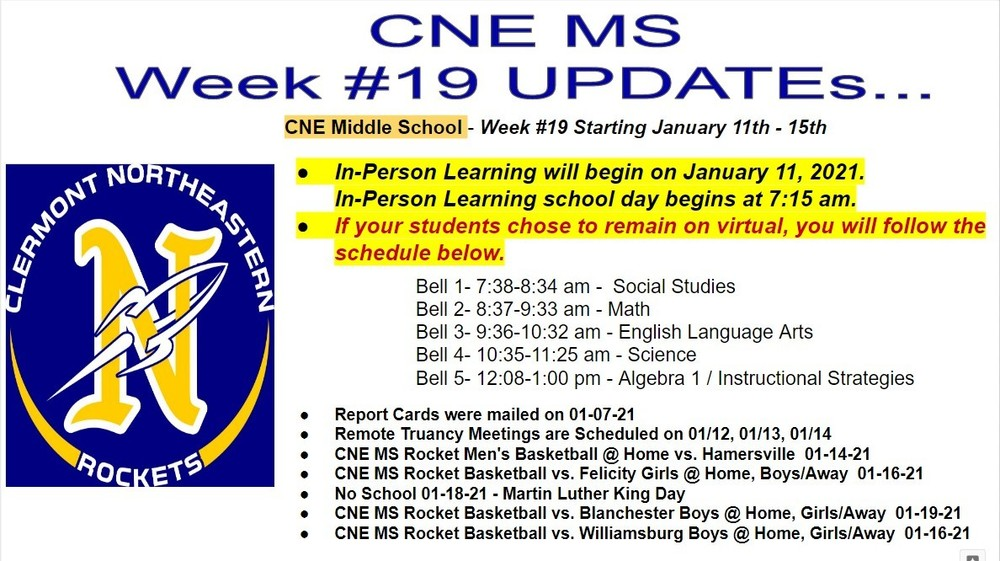 Week # 19 CNE MS Communication