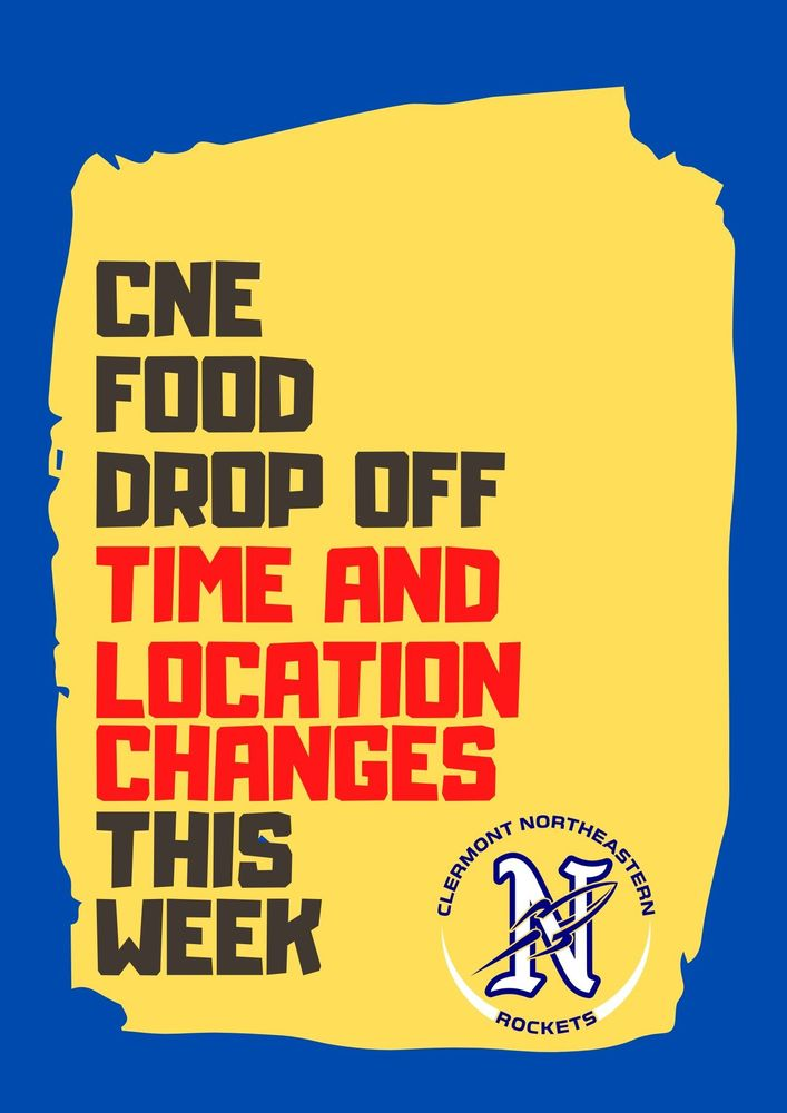 Food drop off changes.
