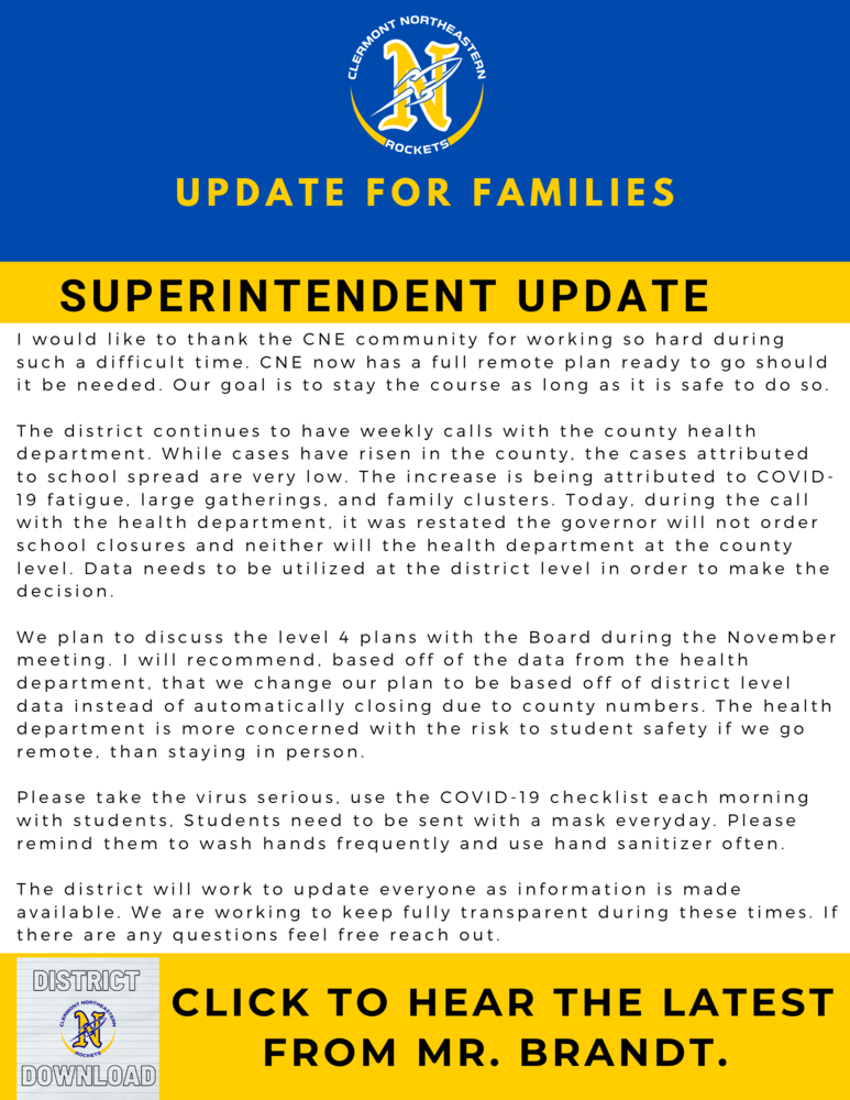 District Download: Update for Families