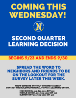 Second Quarter Learning Survey Coming Wednesday