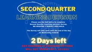 Second Quarter Learning Decision