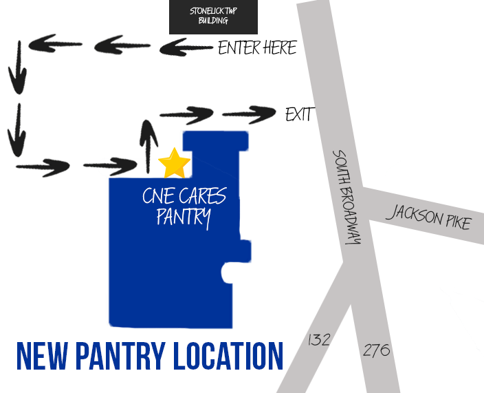 CNE Cares will be hosting a PopUp Pantry tomorrow - Saturday Feb 6th 11:30am-12:30pm.  Registration is REQUIRED for this pop-up.   This pop-up will have produce, meat & dairy items only.   Please follow signs & arrows for pickup. CNE Preschool (old primary building) 463 South Broadway Street Batavia, OH, 45103  Registration link www.cnecares.org/events