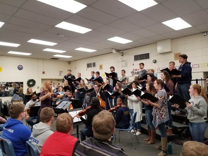 University of Akron Chamber Choir Performing for Choir students