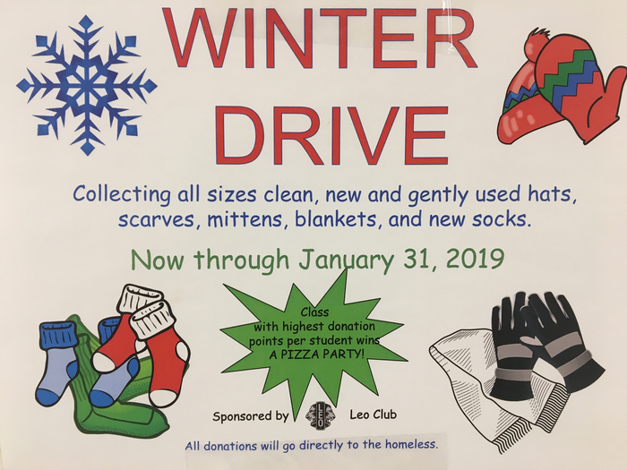Accepting donations to Winter Drive