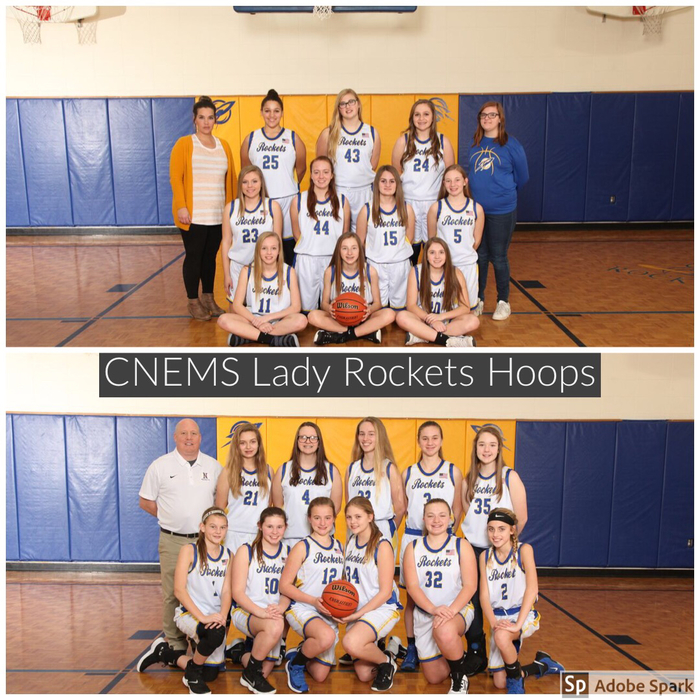 CNEMS Lady Rockets Hoops Team