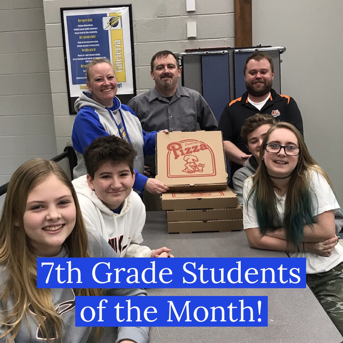 Students of the Month Grade 7
