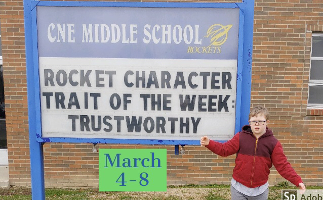 Character trait of the week!