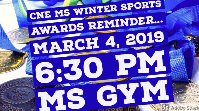 Winter Sports Awards Reminder!!!