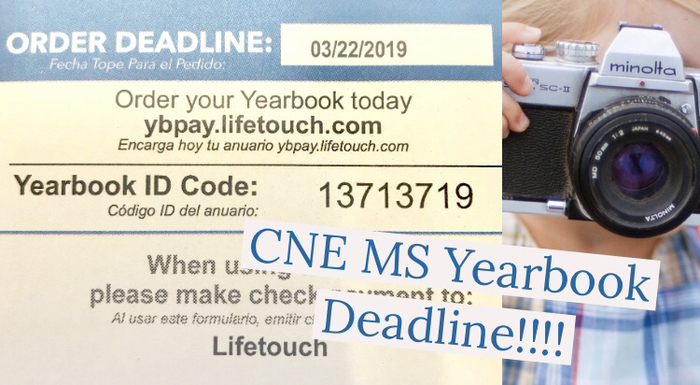 Yearbook orders are DUE!!!