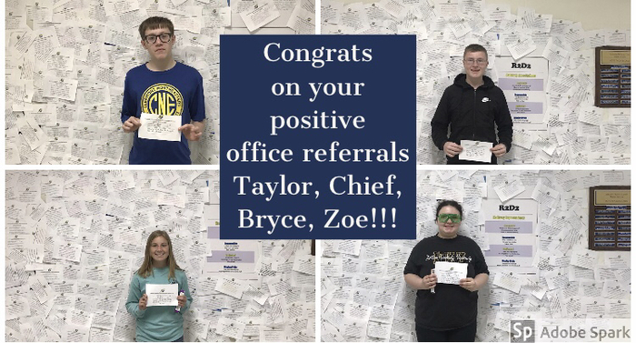 Congrats on your positive office referrals!!!