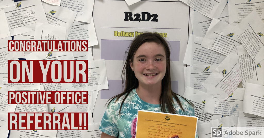 Congrats on your positive office referral