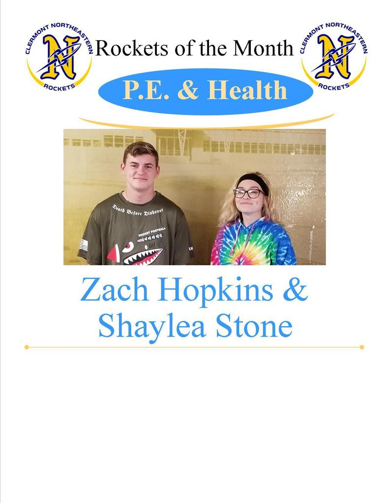 PE/Health - Zach Hopkins and Shaylea Stone