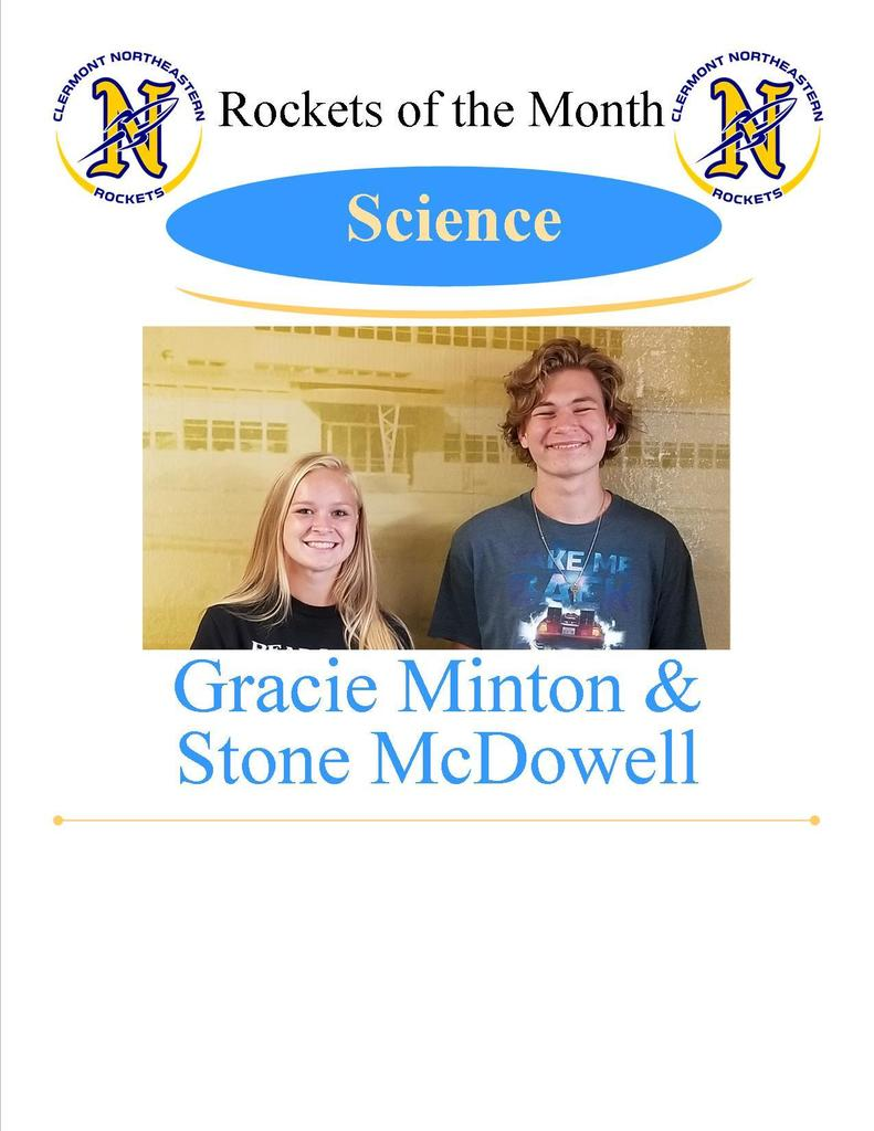 Science - Gracie Minton and Stone McDowell