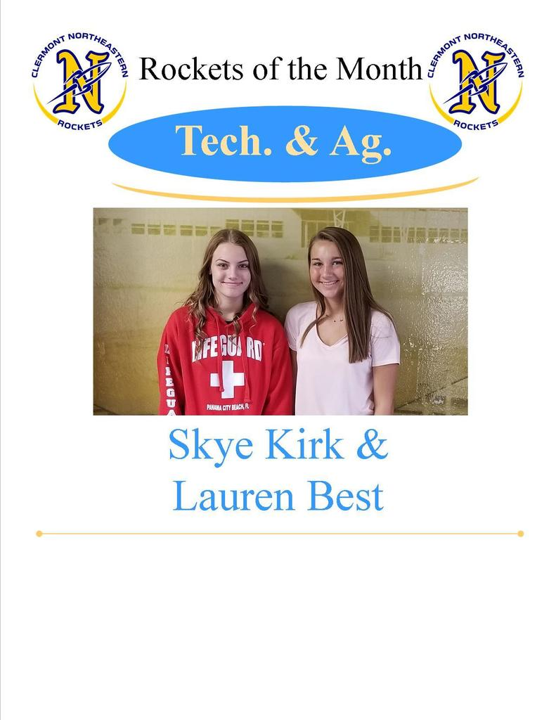 Tech/Ag - Skye Kirk and Lauren Best