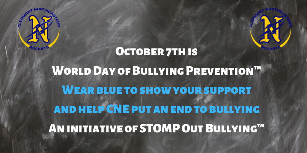 Wear blue to stomp out bullying October 7