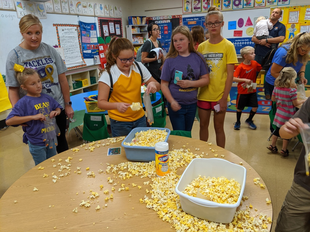 Making popcorn hands
