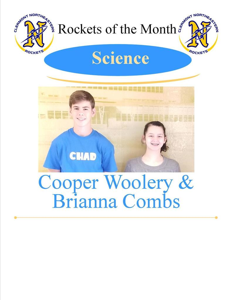 Science Students of the Month