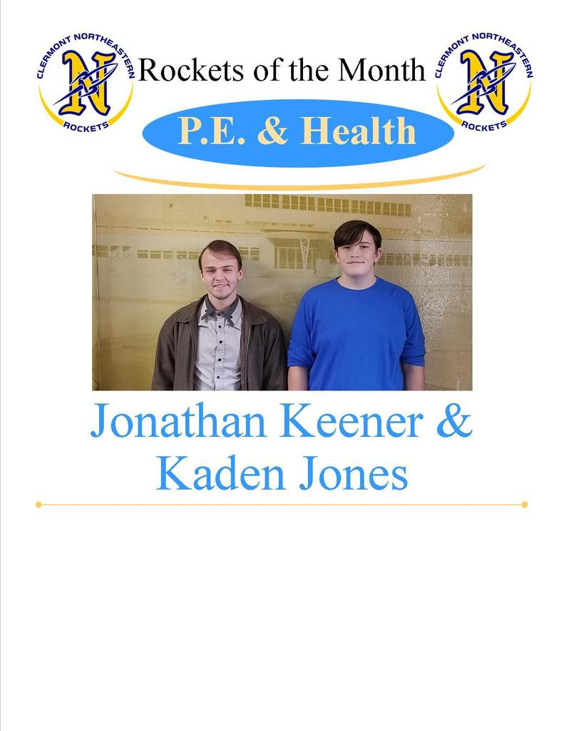 PE/Health Students of the Month