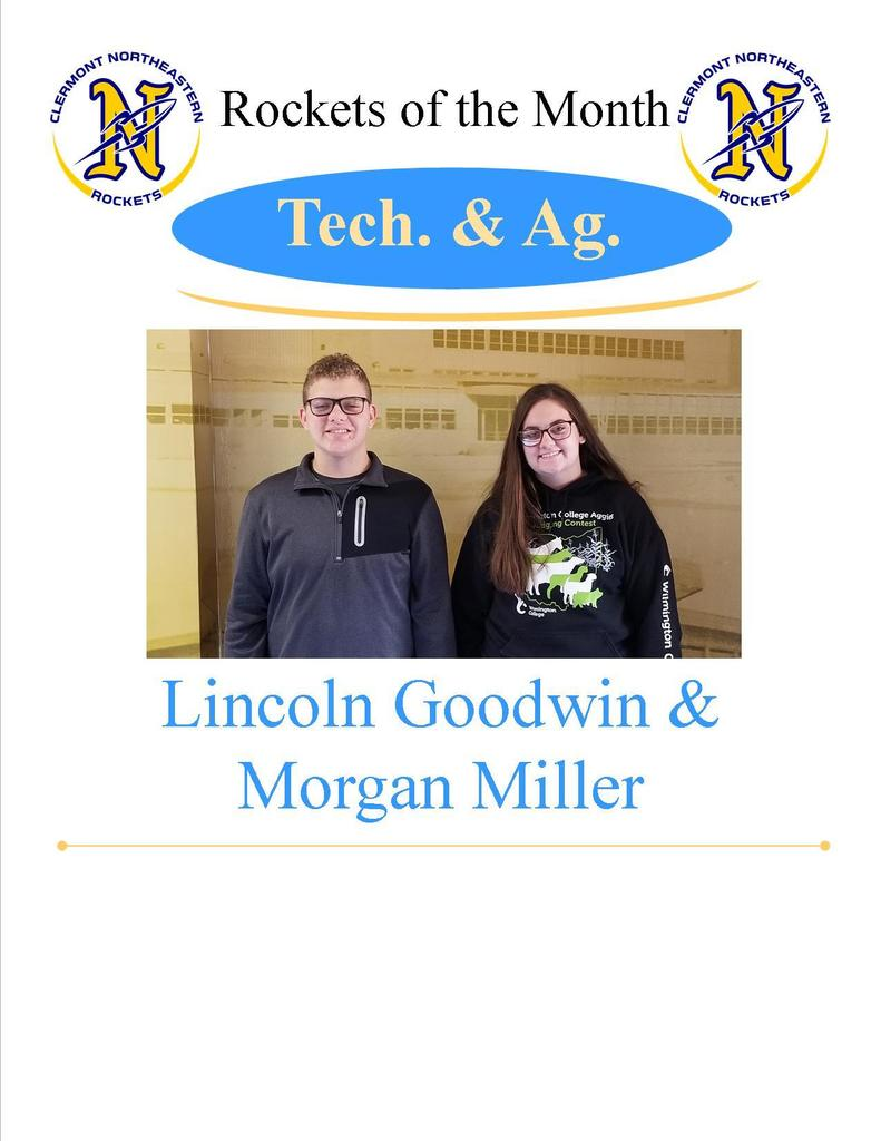 Tech/Ag Students of the Month