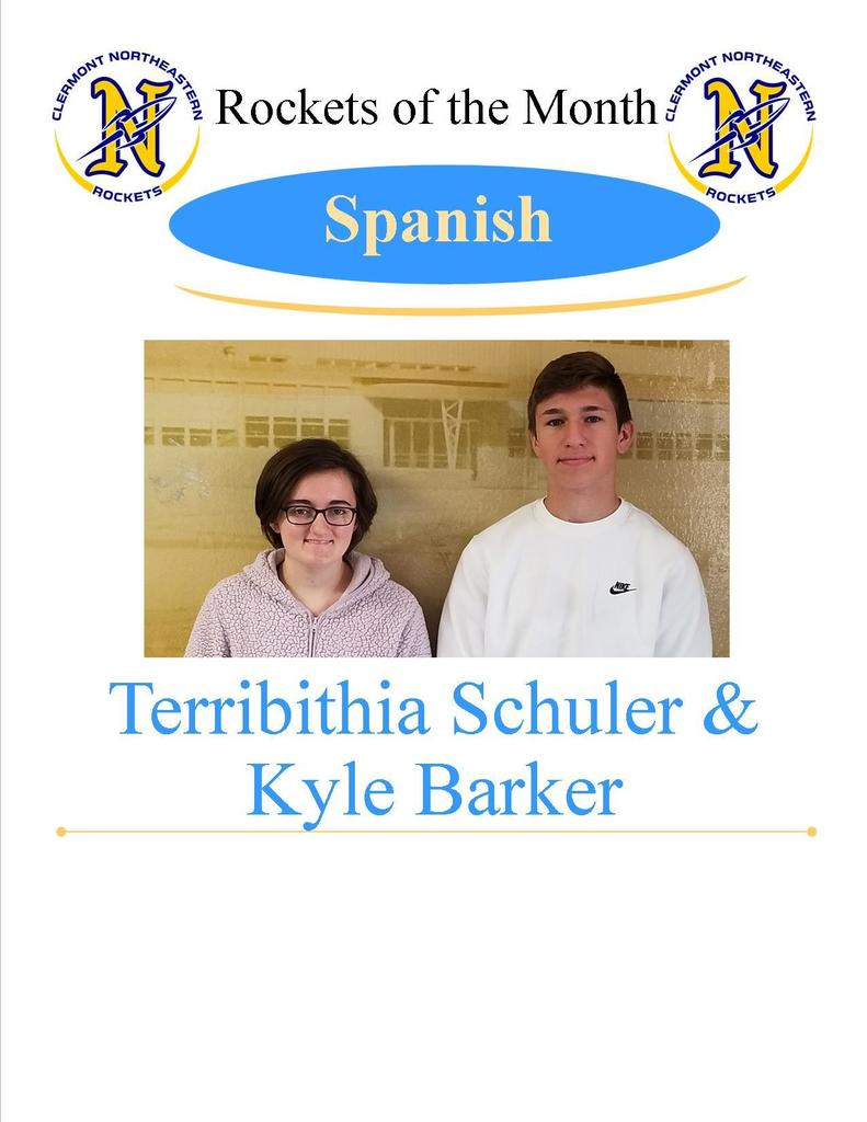 Spanish Students of the Month