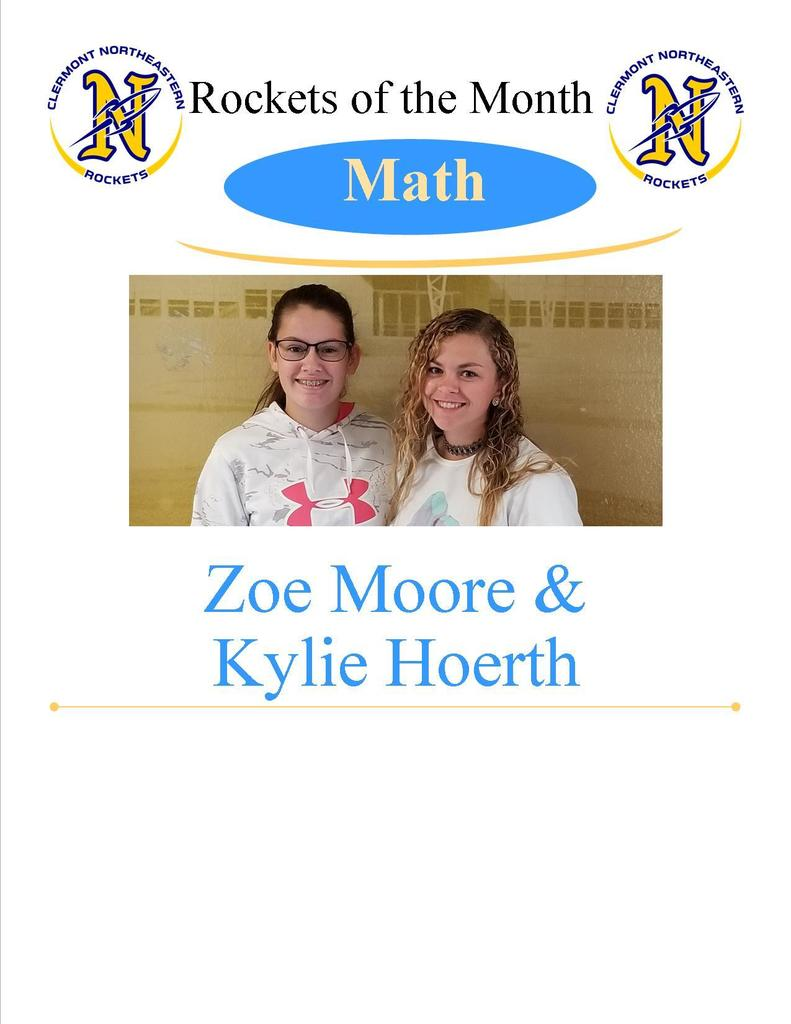 Math Students of the Month