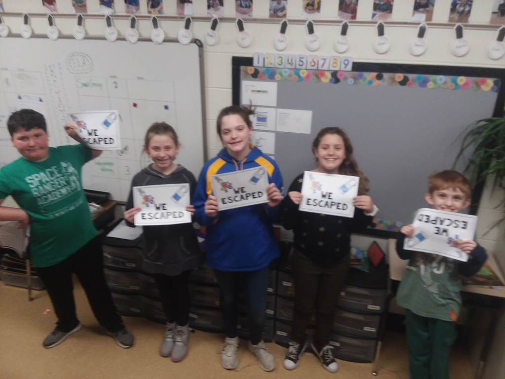 Fifth Graders in Mrs. Langdon's class did a Dragon Multiplication Escape Room!  Too Much Fun