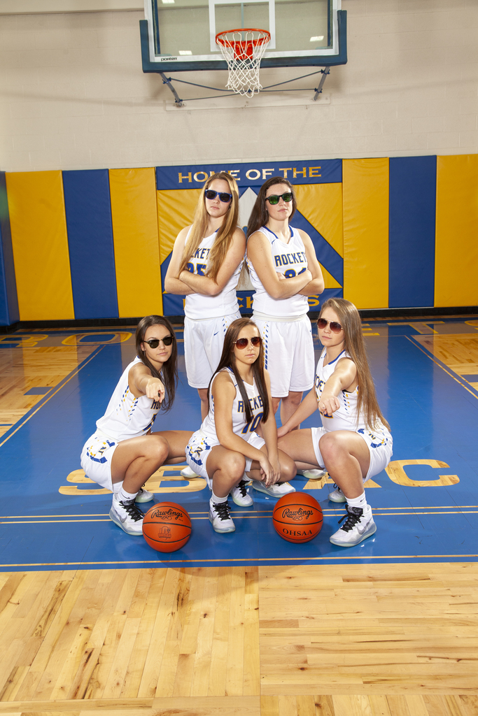 Senior Girls Basketball Players