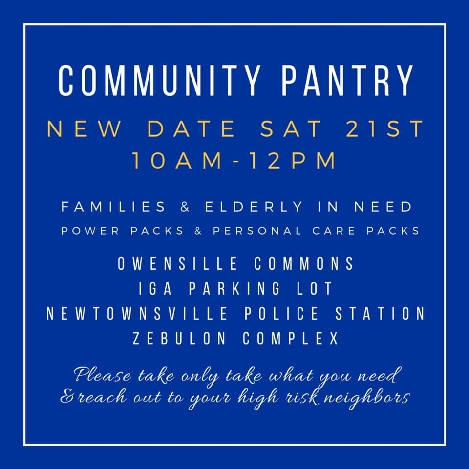 Community Pantry Saturday March 21st, 10a-12p