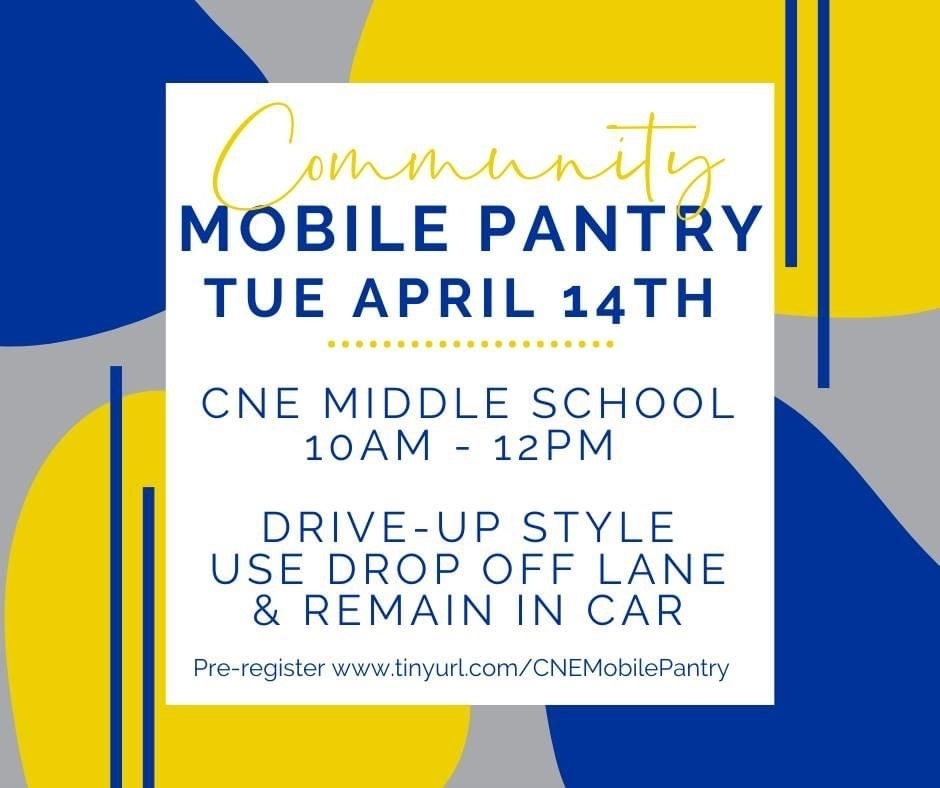 Mobile Pantry April 14, 10a-12p.