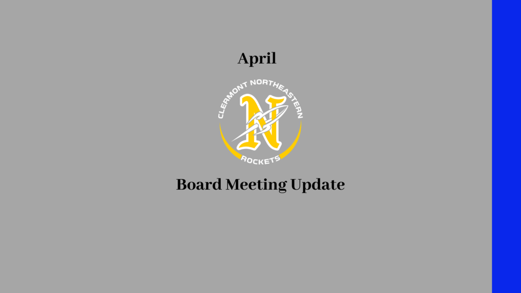 april board meeting update
