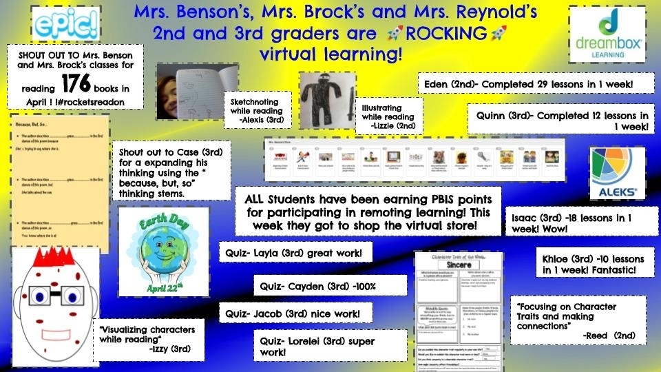 3rd Grade Distance Learning is still Rocking!