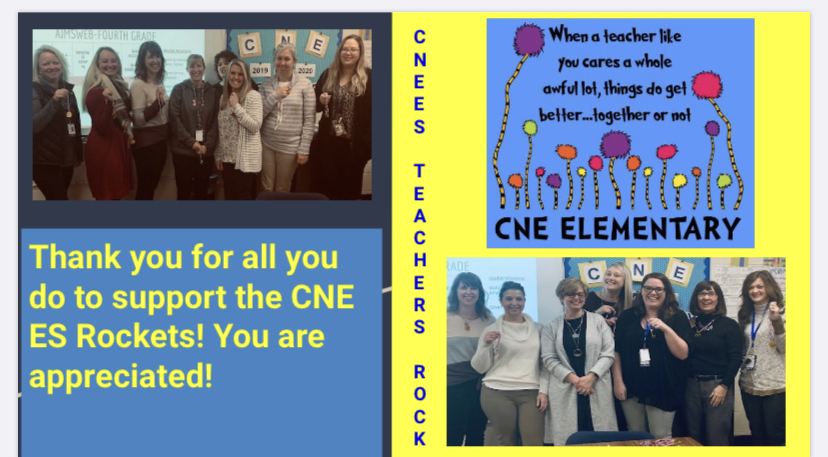 CNE ES teachers rock!