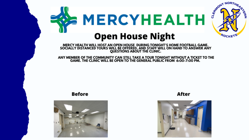Mercy Health Open HouseTonight at the Football Game.